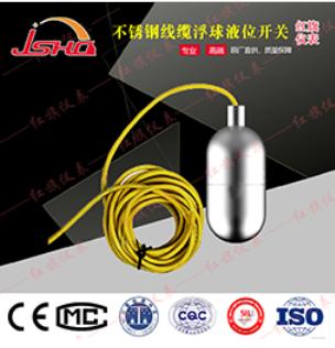 HQUQX不锈钢线缆浮球液位开关