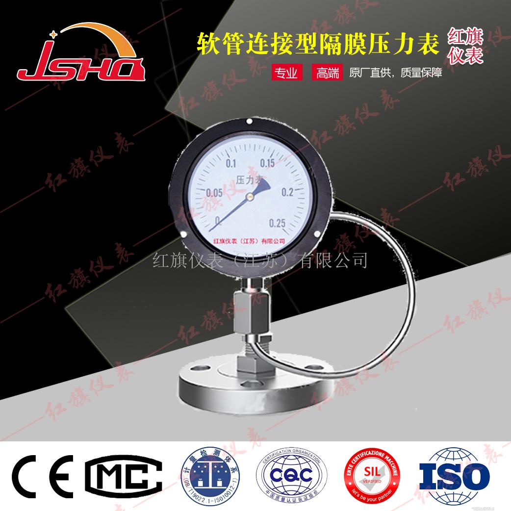 软管连接型隔膜压力表